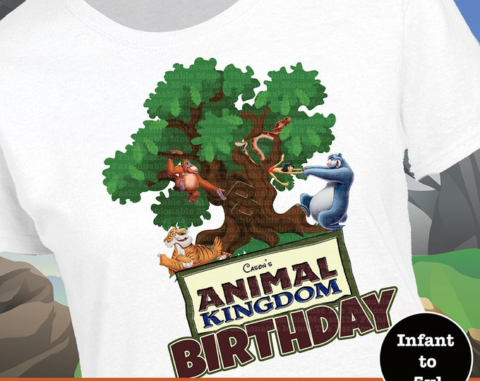 Animal Kingdom Birthday Shirt, Jungle Book Birthday, Mowgli Birthday Shirt, Baloo Birthday Shirt