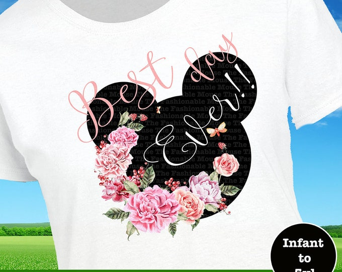 Best Day Ever Shirt, Floral Mickey Head Shirt