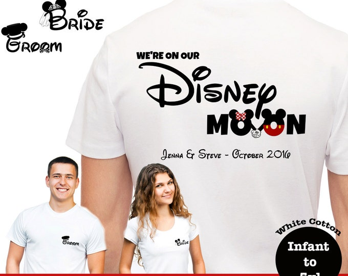 Disneymoon Couples Shirts, Team Bride And Groom Shirts