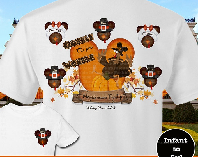 Disney Family Thanksgiving Shirts, Mickey Turkey Family Shirts, Disney Family Turkey Shirts,