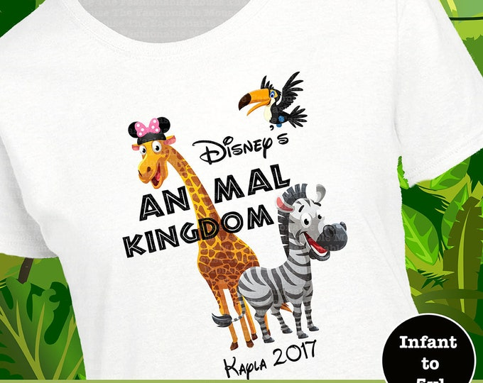 Animal Kingdom Giraffe Zebra Toucan Shirt