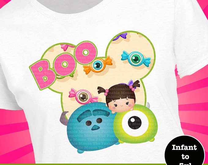 Tsum Tsum Halloween Shirt, Disney Halloween Shirt, Disney Monsters Shirt, Sully Shirt, Boo Shirt, Mike Shirt, Disney Monsters Tank, Boo Tank