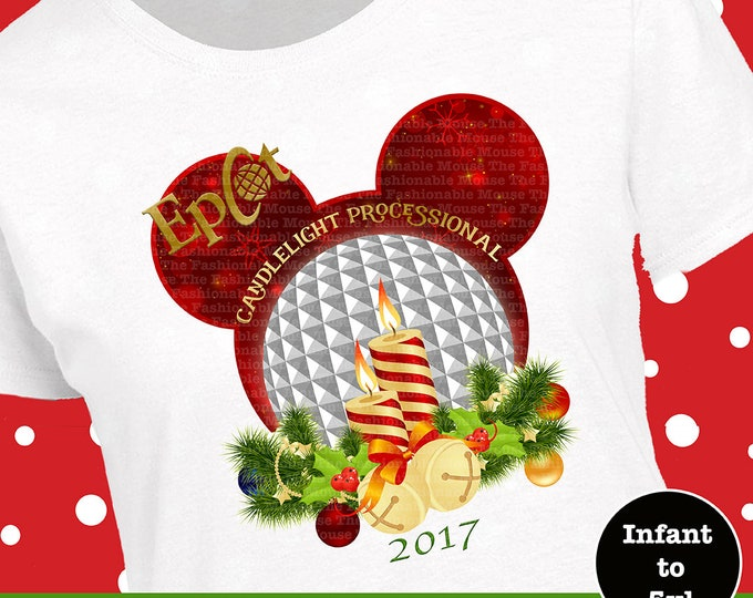 Disney Epcot Christmas Shirt, Disney Christmas Candlelight Processional