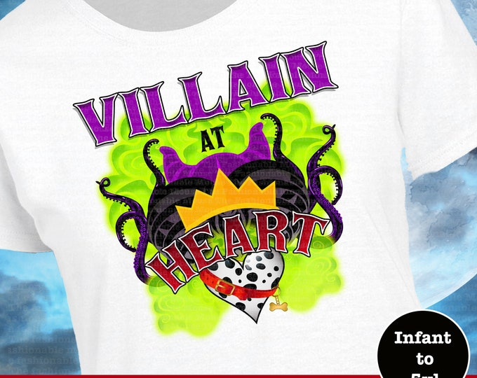 Disney Villain Shirt, Villain At Heart Shirt, Disney Halloween,