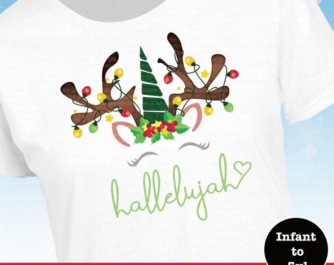 Disney Christmas Hallelujah Shirt, MVMCP Shirt, Disney Christmas Unicorn,