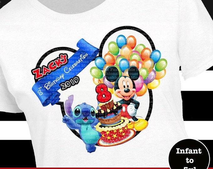 Disney World Birthday Shirt, Mickey Birthday, Stitch Birthday, Disneyland Birthday Shirt