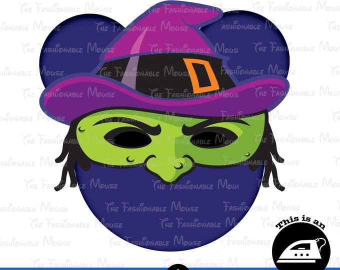Digital Download Halloween Witch Mouse Head
