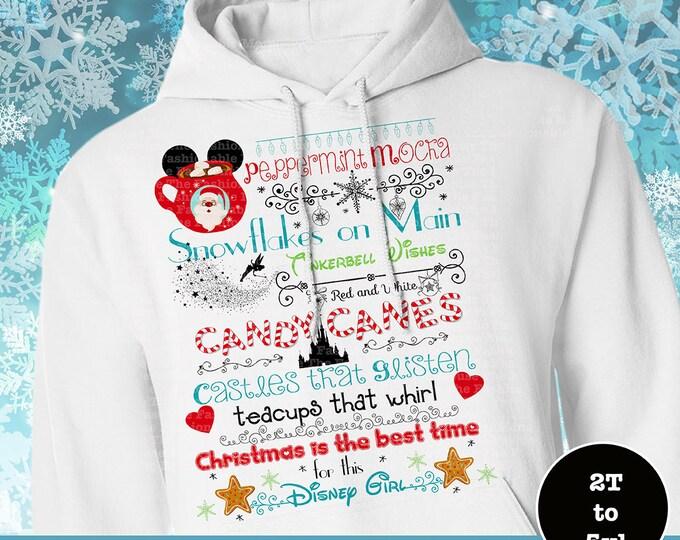 Disney Christmas Castle Hoodie, MVMCP Hoodie, Christmas At Disney Hoodie, Disney Santa Hoodie, Disney Christmas Hoodie