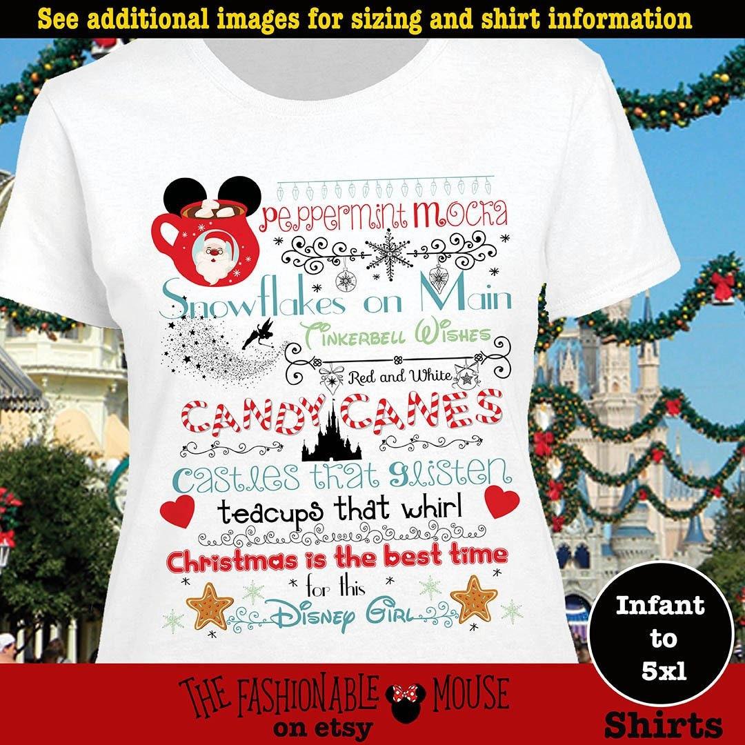 Disney Christmas Shirts.Disney Christmas Castle Shirt Mvmcp Shirt Christmas At