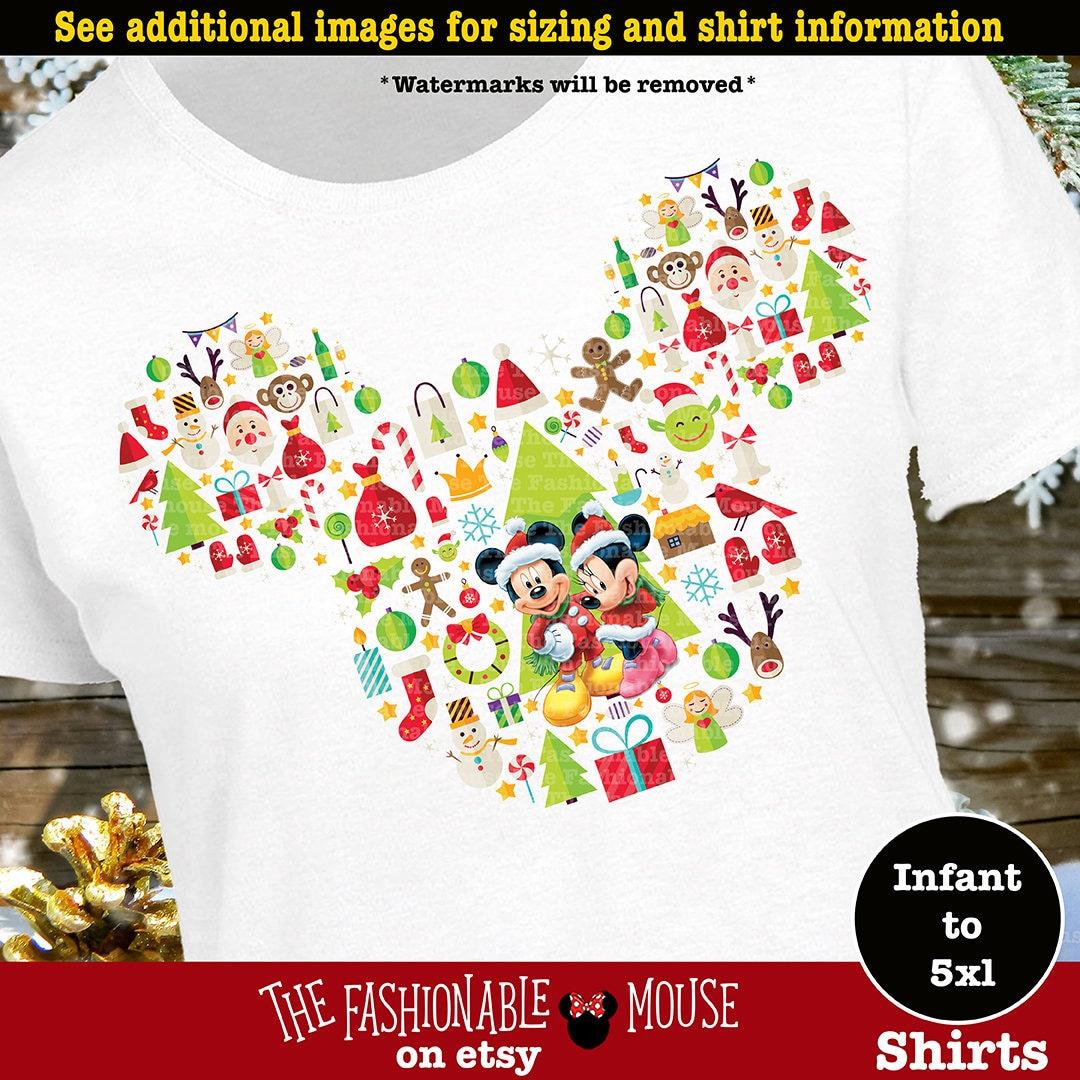 disney christmas shirt mickey mouse christmas shirt minnie mouse christmas shirt mickey santa shirt mickey ears christmas shirt