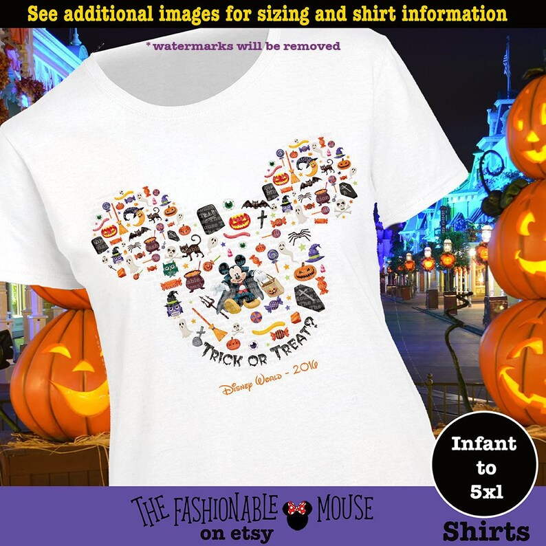 Disney Halloween Shirts Etsy.Mickey Halloween Shirt Mickey Tick Or Treat Shirt Disney Halloween Shirt