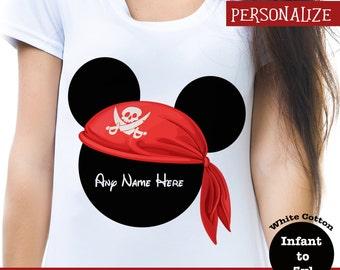Disney Custom Pirate Shirt, Disney Pirate Shirt