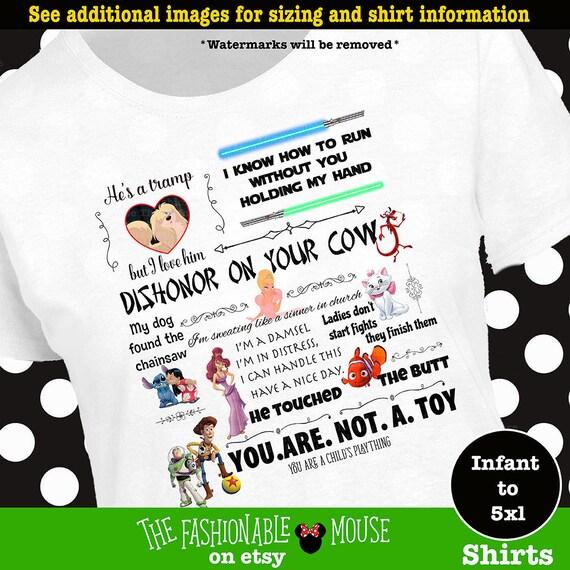 Funny Disney Movie Quotes, Funny Disney Shirt, Famous Disney Quotes,