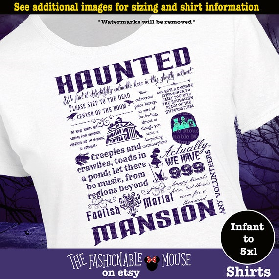 Disney Haunted Mansion Shirt Haunted Mansion Shirt Disney Etsy