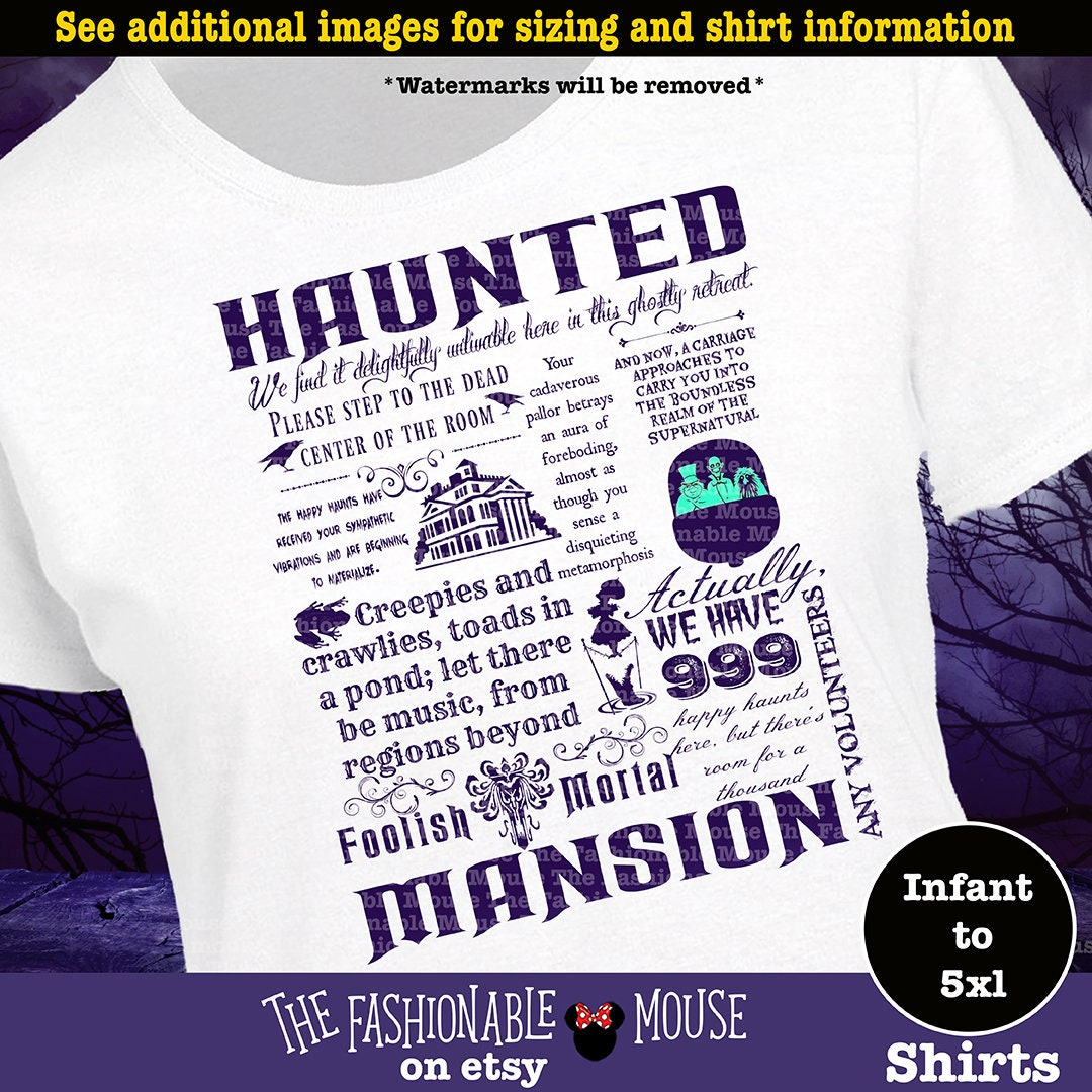 Disney Haunted Mansion Shirt Haunted Mansion Shirt Disney Etsy