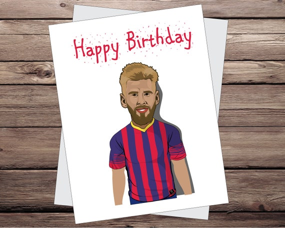 Lionel Messi Gift Messi Birthday Greeting Card Soccer Card Etsy