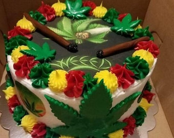Weed cake topper   Etsy