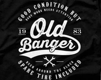 Funny Birthday Gift Ideas For Him 35th TShirt Custom Shirt Bday Present 35 Years Old Banger 1983 Mens Tee DAT1297