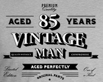 4d6ea8236a6 Personalized Birthday Gift Ideas For Him 85th TShirt Custom Bday Present B  Day Shirt Aged 85