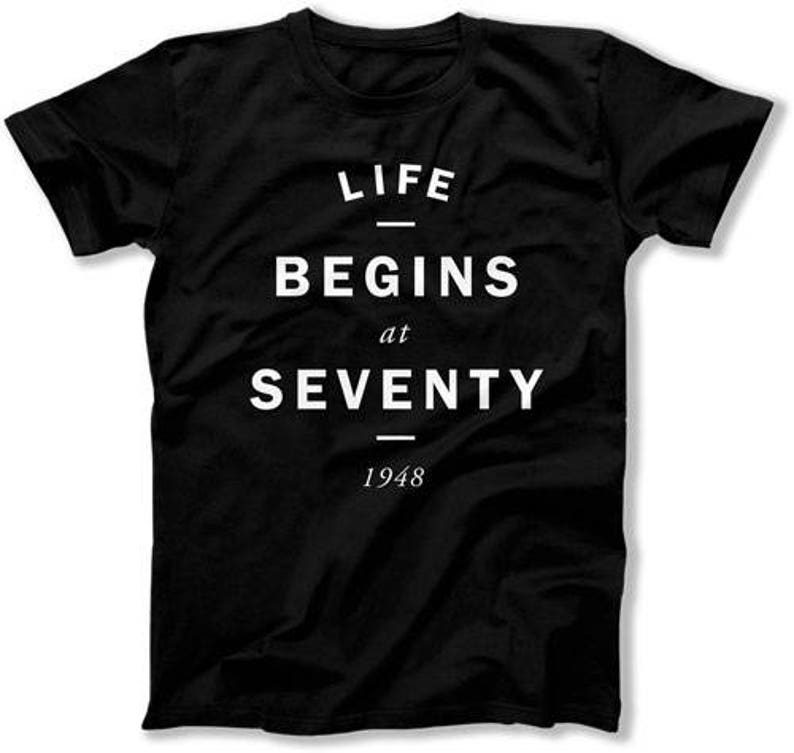 70th Birthday Shirt Personalized Gift 70 Years Old