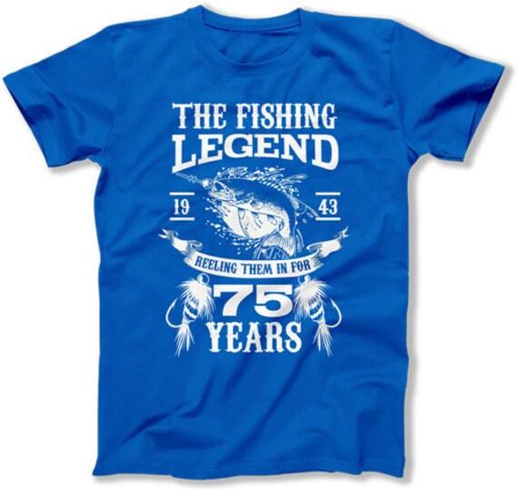 75th Birthday Gift Ideas For Him Fisherman T Shirt Outdoorsman