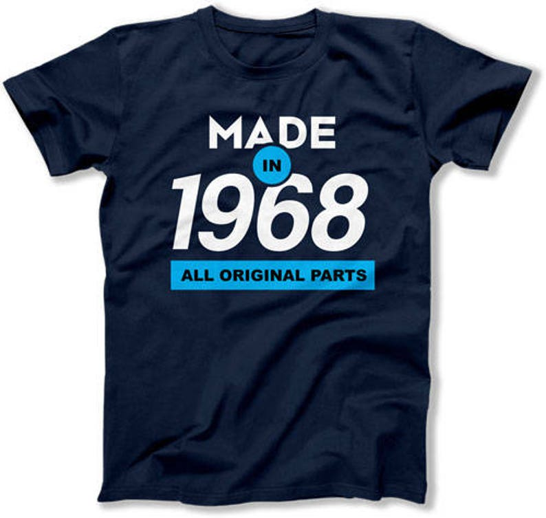 Funny Birthday Gift Ideas 50th Shirt Present For Her Gifts Him Made In 1968 Mens