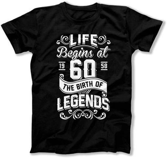 60th Birthday T Shirt Bday Gift Ideas For Him Dad