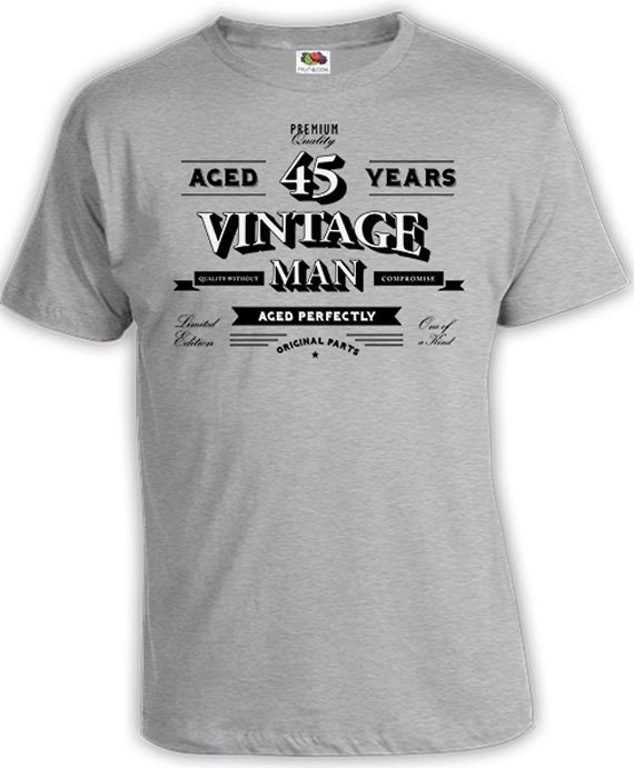 Funny Birthday T Shirt 45th Gift Ideas For Men Bday