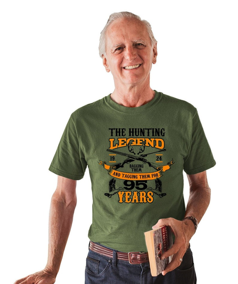 95th Birthday T Shirt Hunting Gifts For Hunters Custom Year