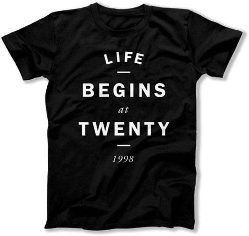Funny Birthday Gift Ideas For Him 20th T Shirt Bday