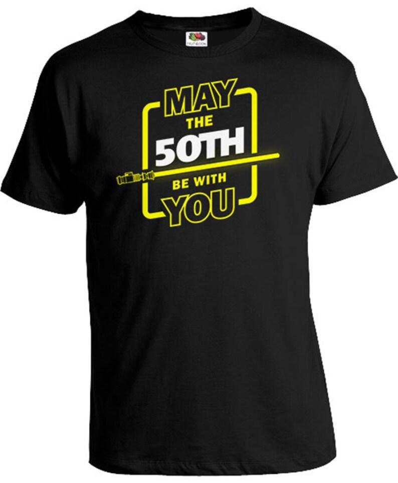 50th Birthday TShirt Custom Age Movie T Shirt Geek