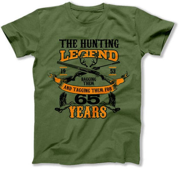Birthday Gift Ideas For Men 65th T Shirt Hunter