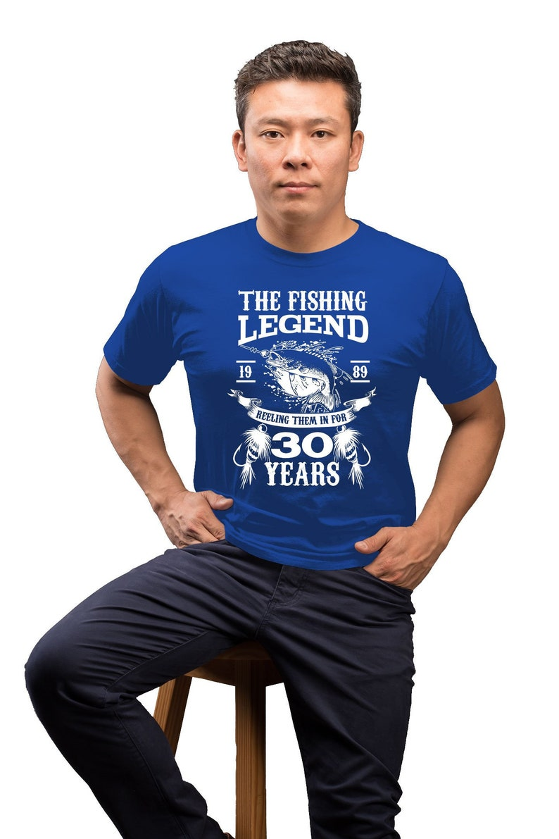 30th Birthday Gift Ideas For Men Fishing Shirt Bday TShirt