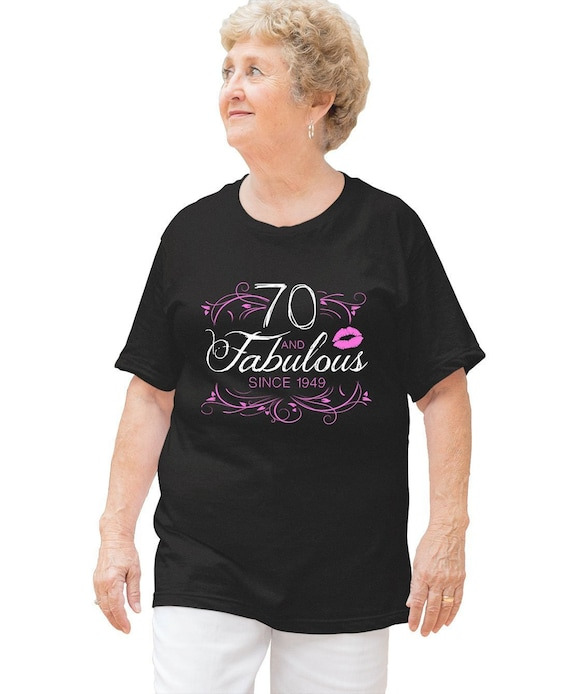 70th Birthday T Shirt Bday Gift Ideas For Her Custom