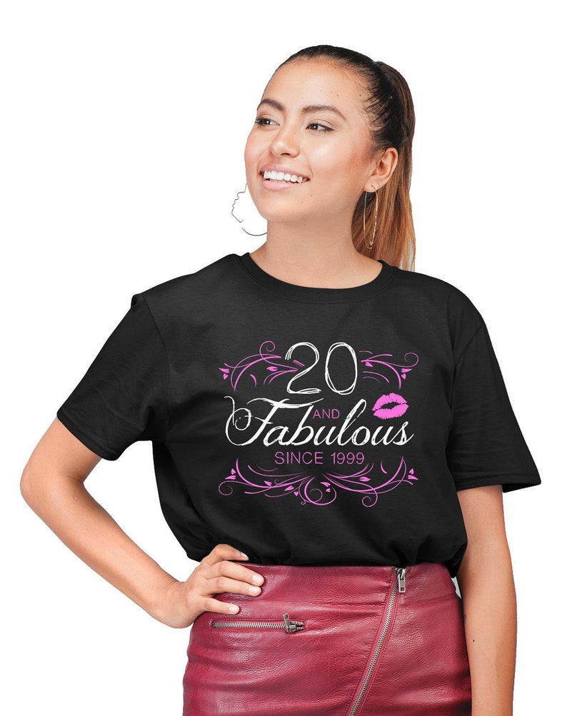 Personalized Birthday T Shirt 20th Gift Ideas Custom TShirt Bday Present For Women 20 Years Old And Fabulous Ladies Tee DAT 1563
