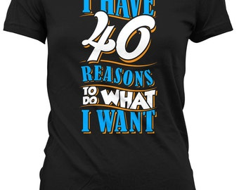 40th Birthday Gifts For Her T Shirt Presents 40 Years Old I