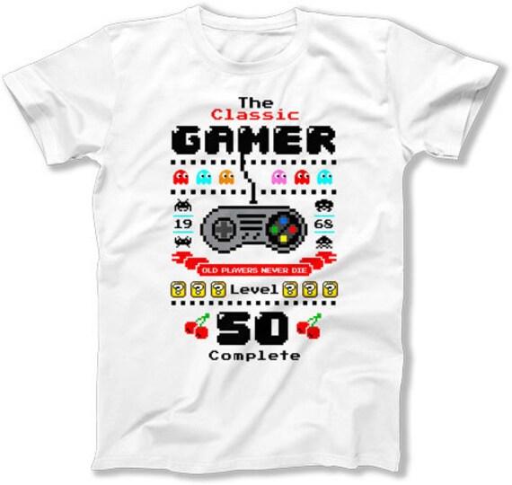 50th Birthday Shirt For Him Nerd Gifts Men Gaming T