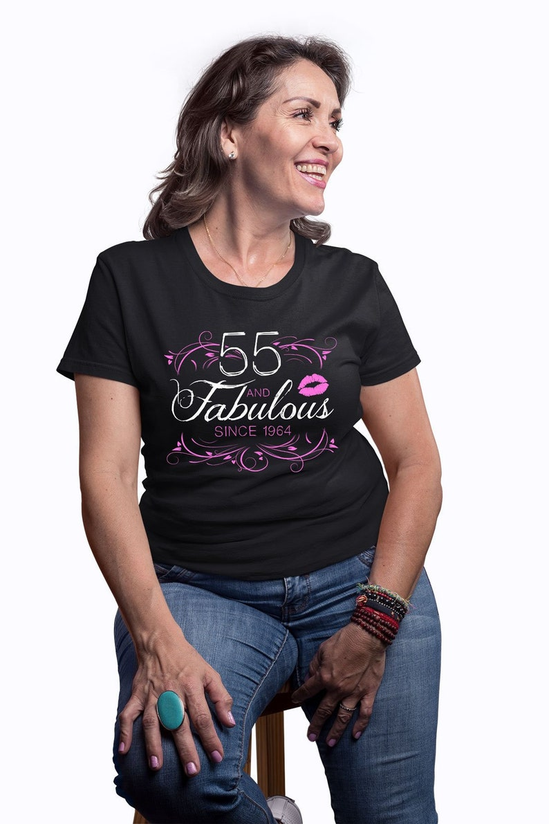 55th Birthday Gift Ideas For Women Custom T Shirt Personalized
