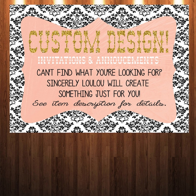 Custom Design Personalize Your Own Invitation Or Annoucement Etsy