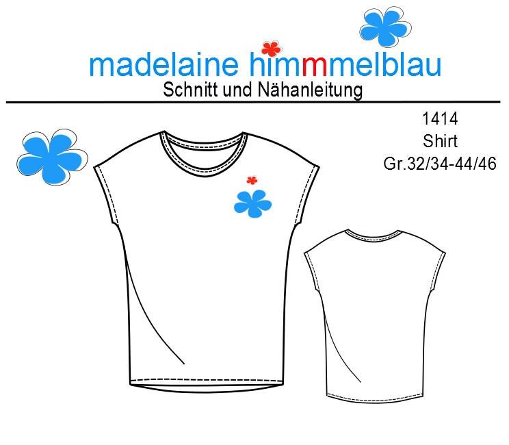 1354 Ebook Schnittmuster M\u00e4dchen Shirt Kurzarm Gr.122-164