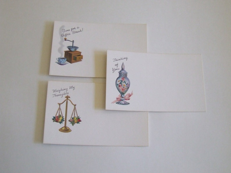 Post A Note by Current Inc of Colorado Springs mid century note cards coffee break thinking of you weighing my thoughts blank note cards