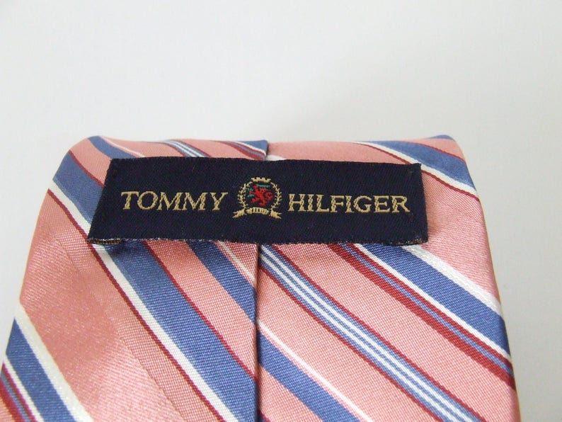 fddda1eb21e0 Tommy Hilfiger 100% silk necktie made in the USA nineties 90s | Etsy