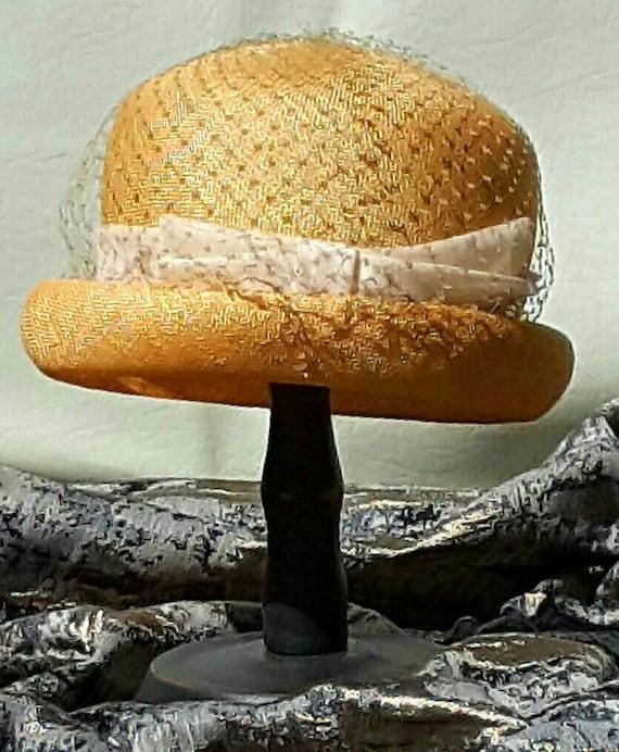 Ladies Straw Bowler Hat