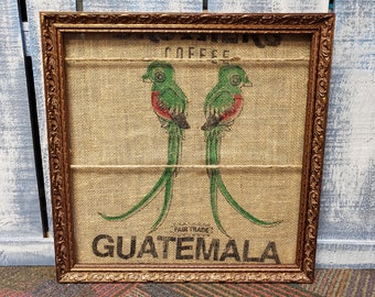 Photo Display with Clips, Picture Display with Clothespins, Frame with Clips, Coffee Decor, Photo Board with Clips, Coffee Lover, Guatemala