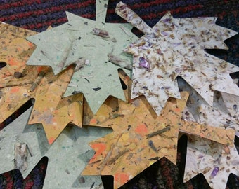 Handmade Paper Thankful Leaves