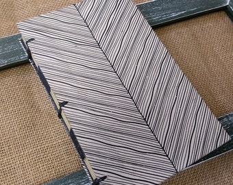Black and White Striped Journal