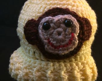 Baby Winter Monkey Hat