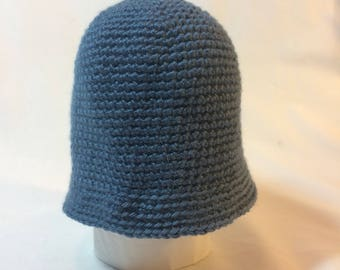 Teal Cloche Baby Hat