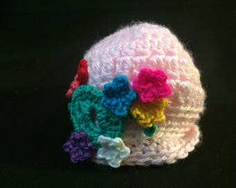 Newborn Flowered Hat