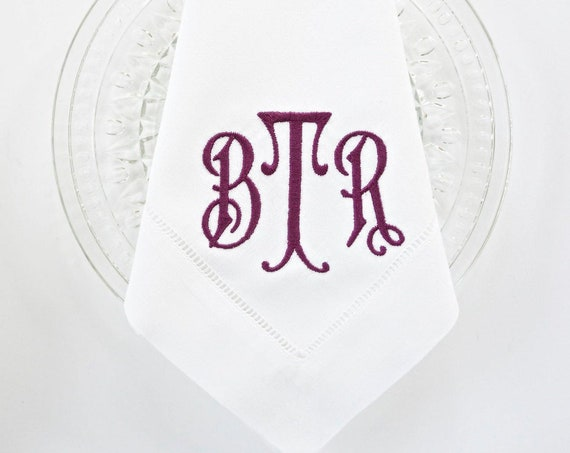 IRIS Monogram Embroidered Linens